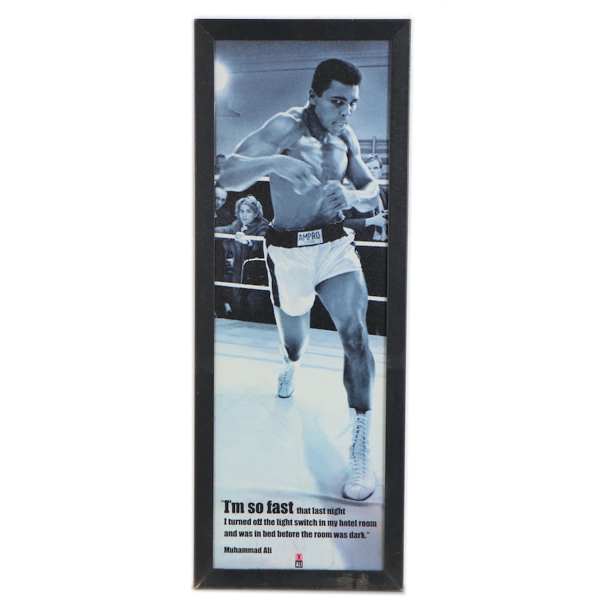 Offset Lithograph Poster of Muhammad Ali, Late 20th Century