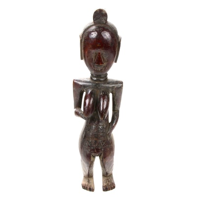 Central African Hand-Carved Wooden Sculpture