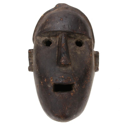 Sukuma Style Hand-Carved Wood Mask, Tanzania