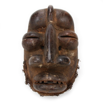Guere Style Hand-Carved Wood Mask, West Africa