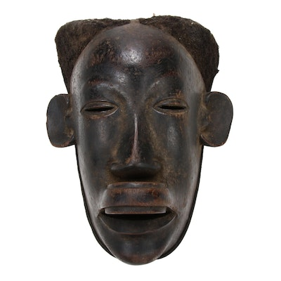 Makonde Style Mask Featuring Depiction of Top Lip Plate, East Africa