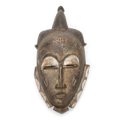 Baule Hand-Carved Wood Mask, Côte d'Ivoire