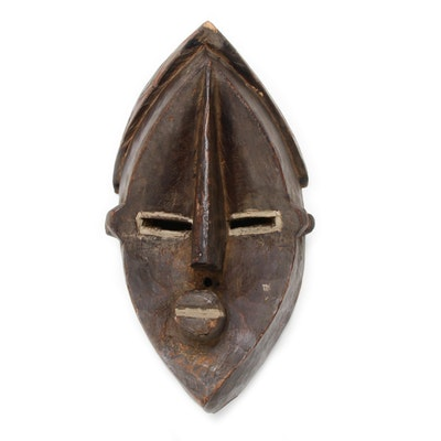 Lwalwa Hand-Crafted Wood Mask, Central Africa
