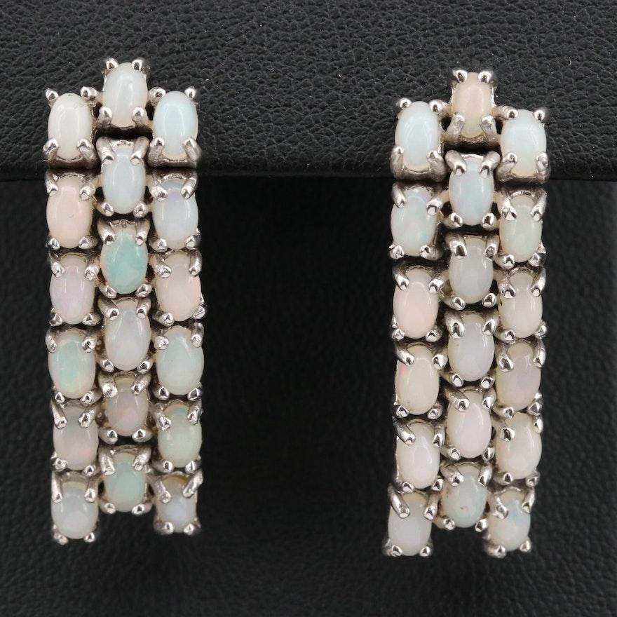 Sterling Silver Opal Waterfall Earrings