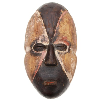 Adouma Style Carved Wood Mask, Gabon