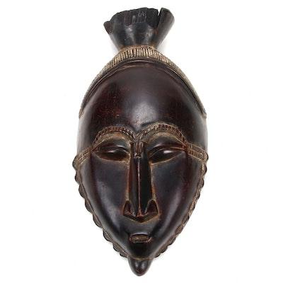 Yaure Carved Wood Mask, Côte d'Ivoire