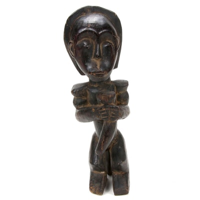 Fang Style Hand-Carved Wood Figure, Central Africa