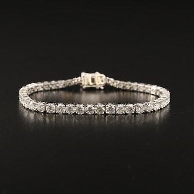 Platinum 10.10 CTW Diamond Tennis Bracelet
