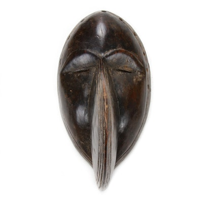 "Dan ""Ge Gon"" Style Hand-Carved Wood Mask, West Africa"
