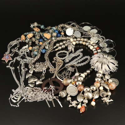 Necklaces, Brooches and Bracelets Including Wood, Agate and Bone