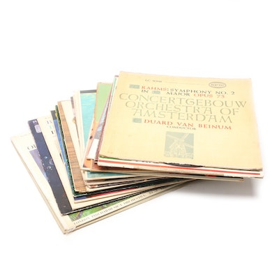Classical Records Including Mozart, Bach, Handel, Others