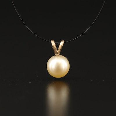 14K Pearl Pendant