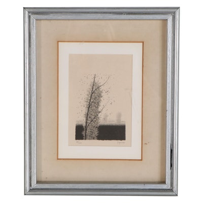 Robert Kipniss Lithograph of Lone Tree, Late 20th Century