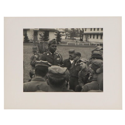 Silver Gelatin Photograph of Military Men, Mid to Late 20th Century