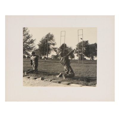 Silver Gelatin Photograph of Military Obstacle Course, Mid 20th Century