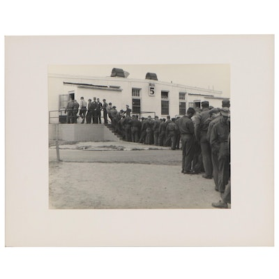 Silver Gelatin Photograph of Military Line Up, Circa 1940