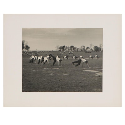 Silver Gelatin Photograph of Military Training, Circa 1940