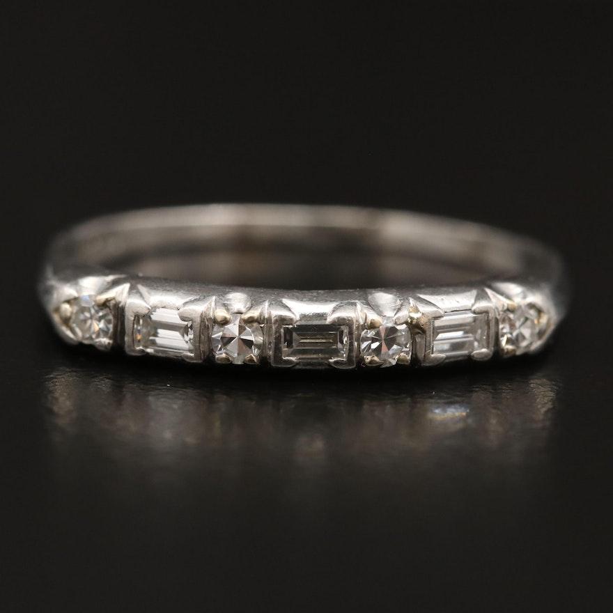 Platinum Diamond Bar Ring