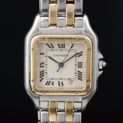 Cartier Panthère de Cartier 18K and Stainless Steel Quartz Wristwatch with Date