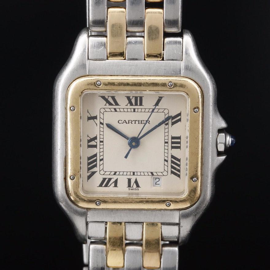 Cartier Panthère de Cartier 18K and Stainless Steel Quartz Wristwatch with Date