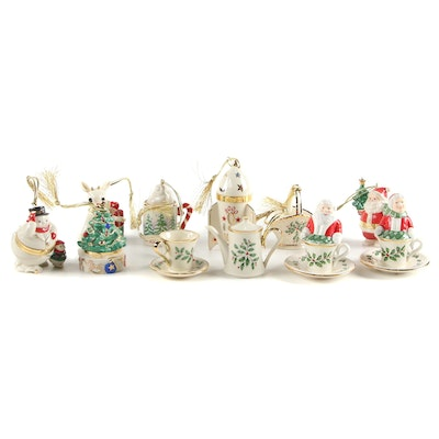 Lenox Bone China Christmas Ornaments and Salt and Pepper Shakers