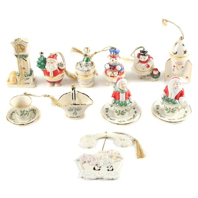 Lenox Porcelain Christmas Ornaments
