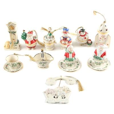 Lenox Porcelain Christmas Ornaments