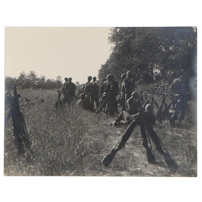 Silver Gelatin Photograph of Military Troop, Mid 20th Century