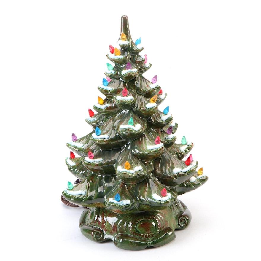 B&W Ceramics Light-Up Christmas Tree, Mid to Late 20th Century