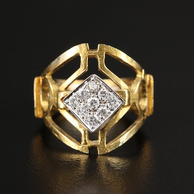 18K Diamond Openwork Ring
