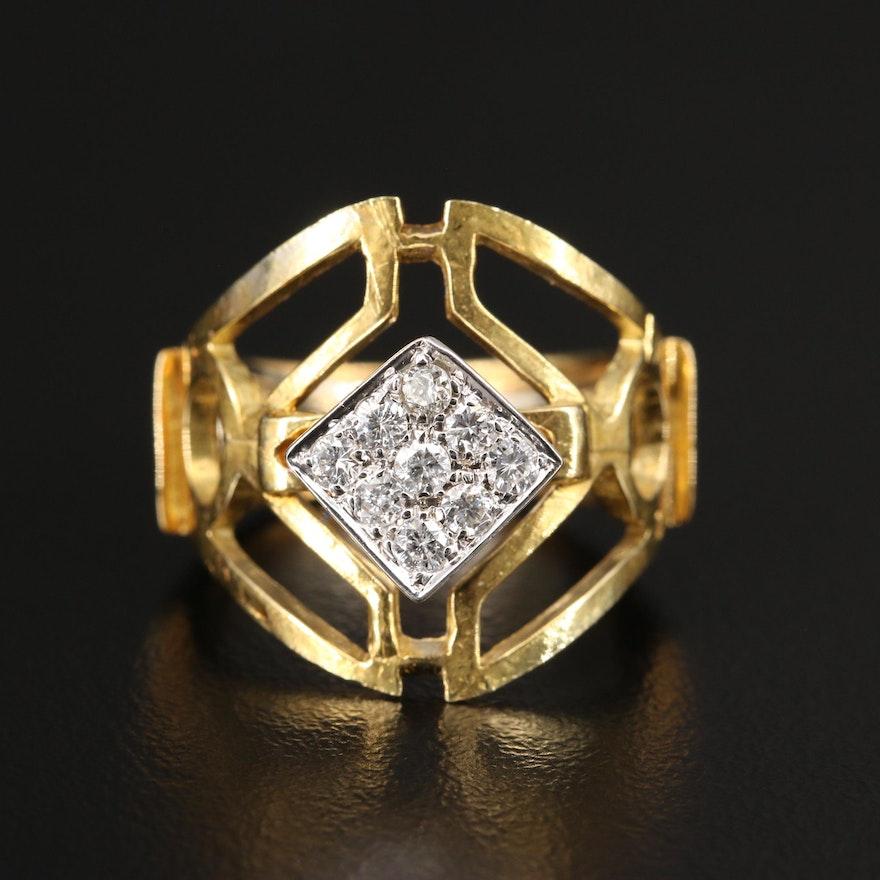 18K Diamond Openwork Ring