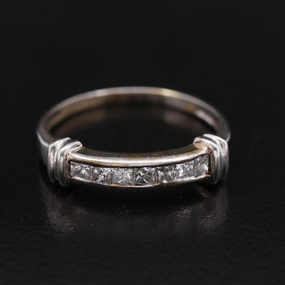 14K Diamond Channel Set Band