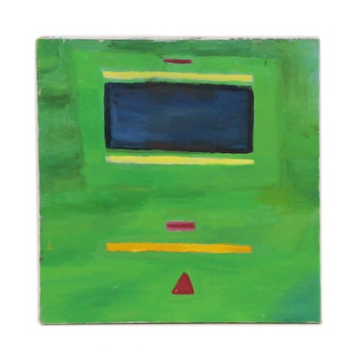 Jerald Mironov Geometric Abstract Oil Painting