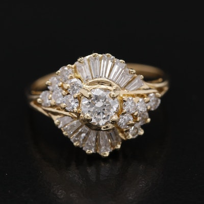 18K 1.37 CTW Diamond Ring