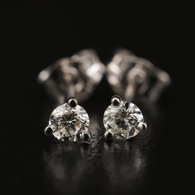 14K 0.20 CTW Diamond Martini Set Stud Earrings