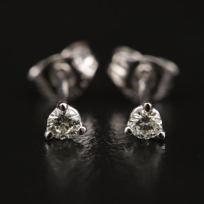 14K 0.10 CTW Diamond Martini Set Stud Earrings
