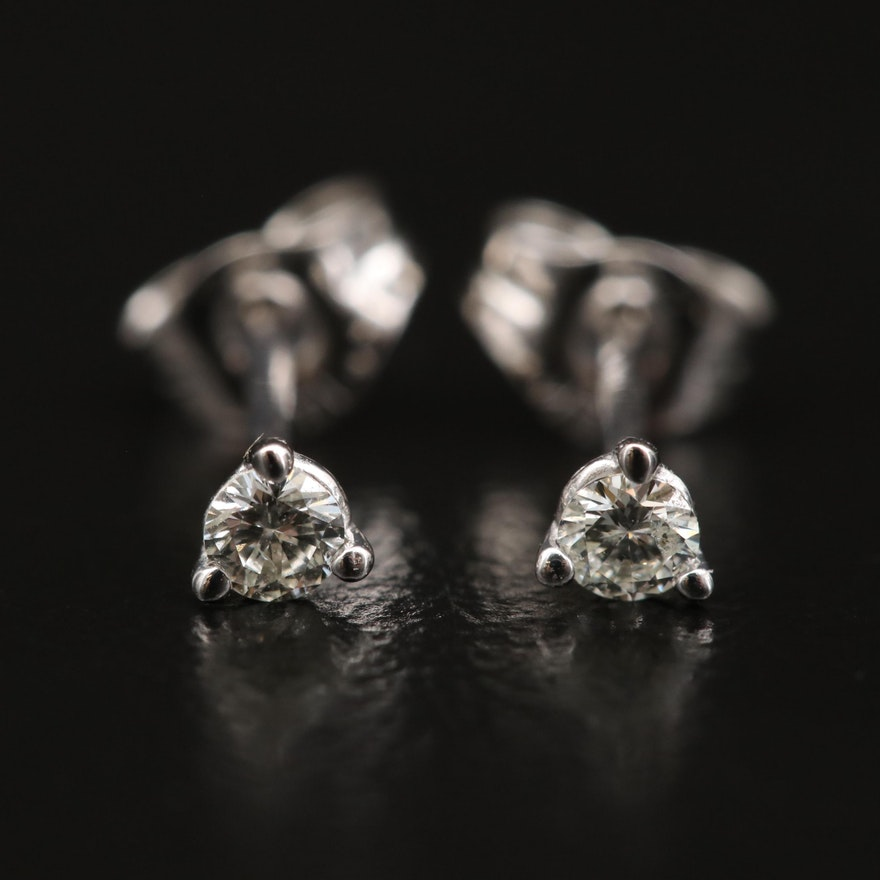 14K 0.10 CTW Diamond Martini Set Stud Earrings