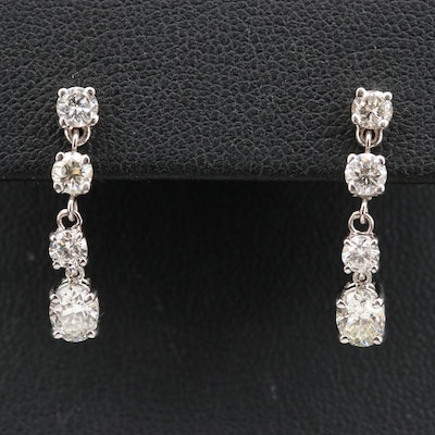 14K 1.51 CTW Diamond Drop Earrings
