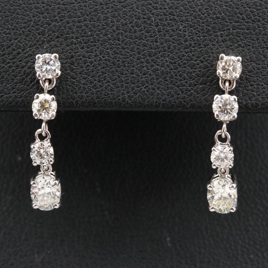14K 1.51 CTW Diamond Drop Earrings