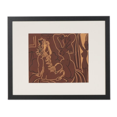 "Pablo Picasso Linoleum Cut ""Three Women"", 1962"