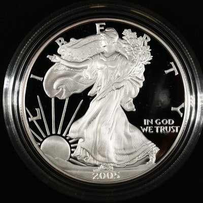 2005-W American Silver Eagle Proof Bullion Coin