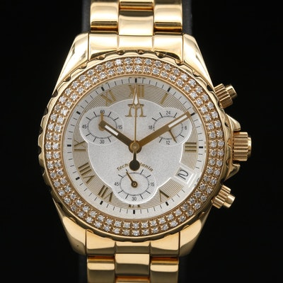 Diamond Techno Mania Chronograph Stainless Steel Wristwatch