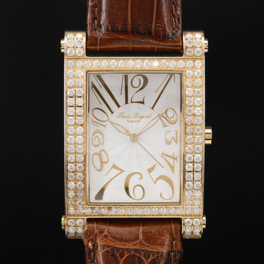 Swiss Legend Diamond Stainless Steel and 2.00 CTW Diamond Quartz Wristwatch