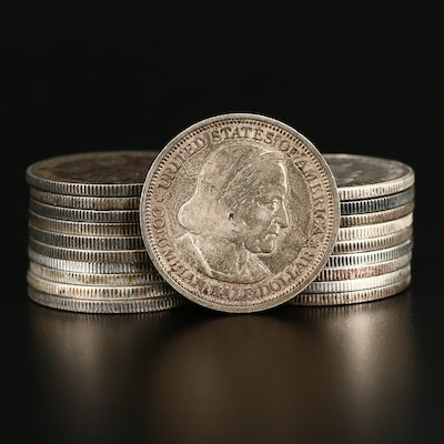 Twenty Circulated U.S. Commemorative Silver Half Dollars, 1892–1952