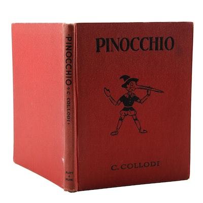 """Illustrated """"Pinocchio"""" by Carlo Collodi, 1940"""