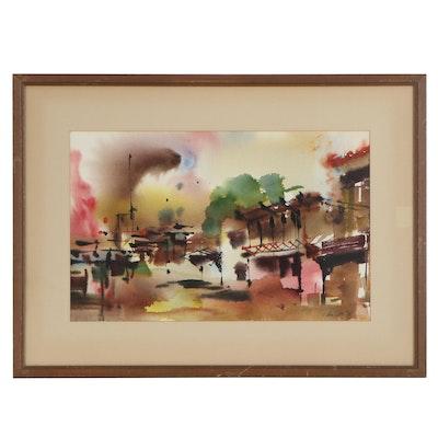 "John A. Tuttle Watercolor Painting ""JATG"", 1963"