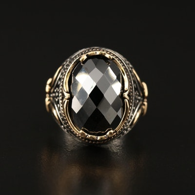 Turkish Inspired Sterling Silver Cubic Zirconia Dome Ring