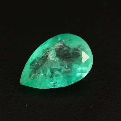 Loose 2.18 CT Pear Faceted Emerald