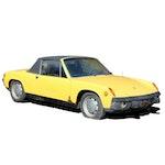 1973 VW-Porsche 914 Two-Door Targa Topped Roadster in Saturn Yellow