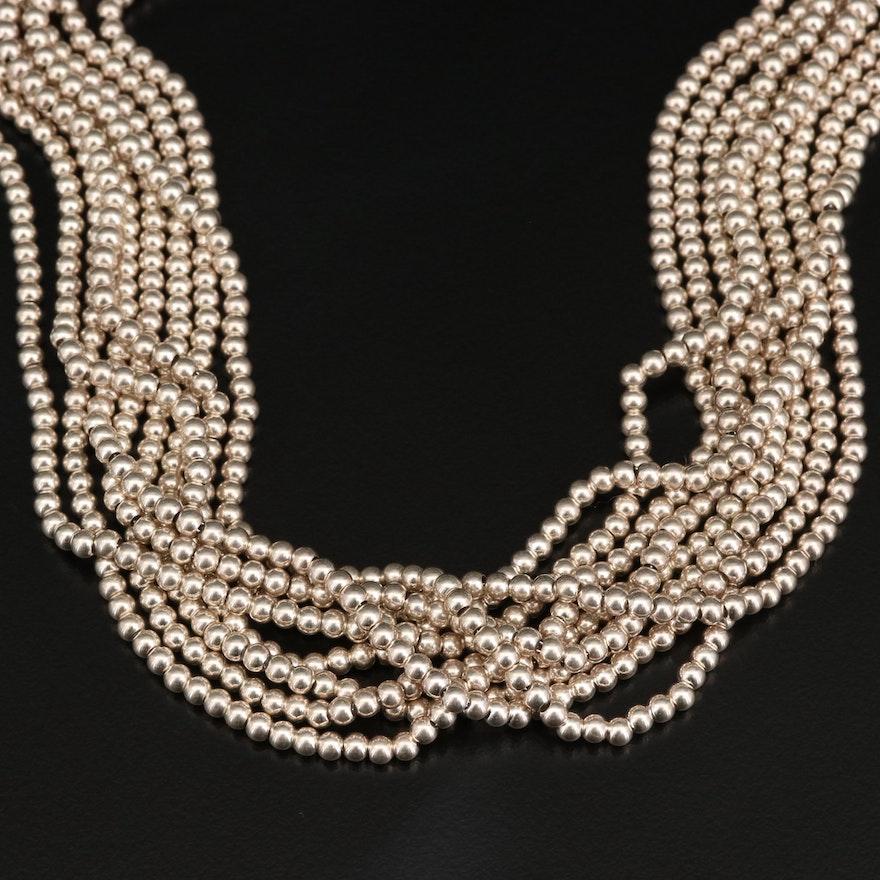 Tiffany & Co. Bead Chain Multi-Strand Necklace